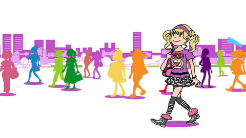 A woman walking in the city03 Animation