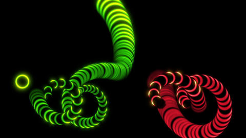 animation - design of Octopus Tentacles on black background Animation