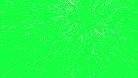 Going warp speed in cartoon style on green screen-animation Animation