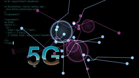 5G technology - animation with futuristic HUD interface Animation