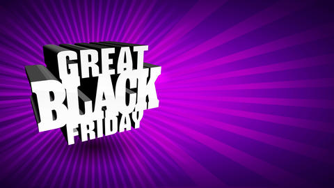 excellent black friday announcement with large 3d shiny letters fizzy in center of colour sunshine Animation