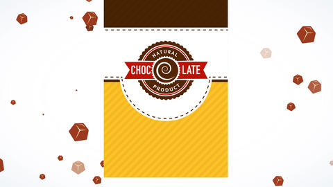 natural brown product with swirl seal sharing adolescent look over striped and speckled scene Animation