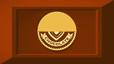 extra fine chocolate selection concept art with 3d effect cocoa bar and rounded icon with heart Videos animados