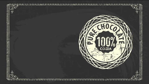 100 percentage perfect chocolate chocolate product signboard with vintage oval figure drawn over Videos animados