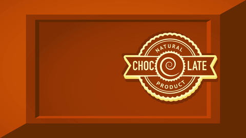 natural drink product advertising with rounded tribal fancy symbol over tempting 3d chocolate bar Videos animados