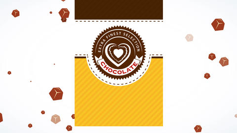 valentines day unique edition of extra best brown bar choosing with heart shape confectionery over Animation