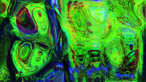 Abstract Psychedelic and weird Digital Futuristic Background Animation