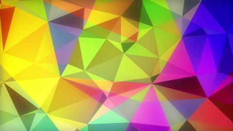 Animated Colorful Triangle Fractal Backdrop Animation