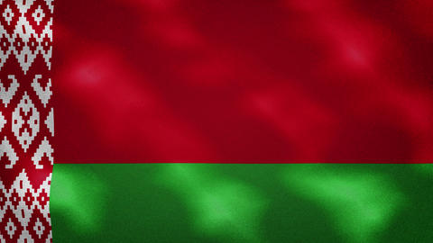 Belarusian dense flag fabric wavers, background loop Animation