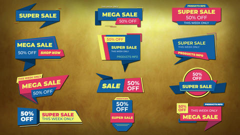 Titles Sale Banner Plantillas de Motion Graphics