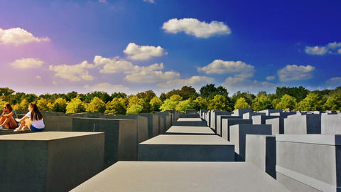 Berlín, Germany. Circa August 2016. The Memorial to the Murdered Jews of Europe Footage