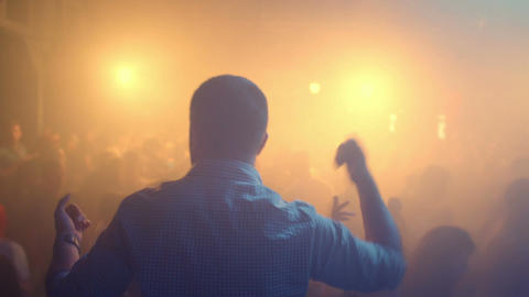 Man dancing in the club Footage