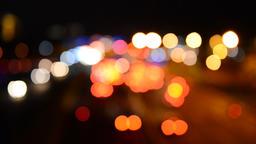 Defocused night traffic lights-Bangkok Footage