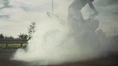 Motorbike tricks Footage