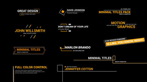 Line Titles Motion Graphics Template