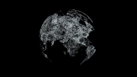 Earth of lines and points Transparent Animation