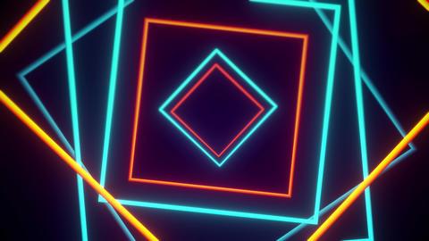 Orange And Blue Geometric VJ Tunnels 0