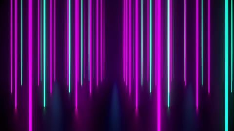 VJ Loop Of Long Purple And Green Light Bars Seamlessly Repeating Animation
