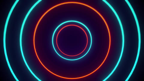 Orange And Blue Geometric VJ Tunnels 1