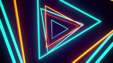 Orange And Blue Geometric VJ Tunnels 2