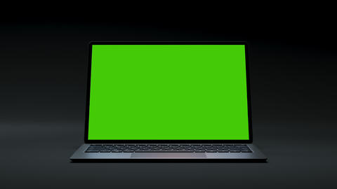Clear Green Screen 3d Computer for Business Blog or Gaming App Video Close-Up 4k Live Action