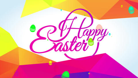 optimistic easter greeting card with effervescent rose yellow color palette on elegant handwriting Animation