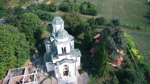 beautiful view of the church in nature GIF