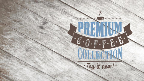 coffee set advertising asking clients to try it today with various types of classical typography Animation