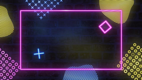 Animated Neon Colored Background - Sign Animation