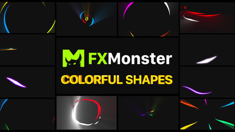 Colorful Shapes Motion Graphics Pack Animation