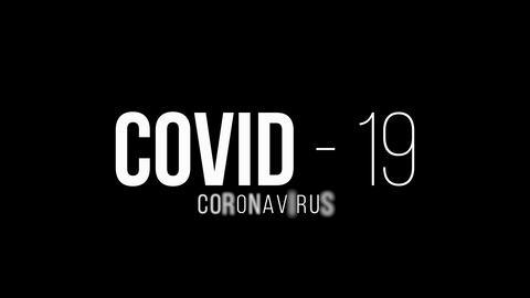 Coronavirus covid-19 novel coronavirus concept motion background. coronavirus motion text on black Live Action