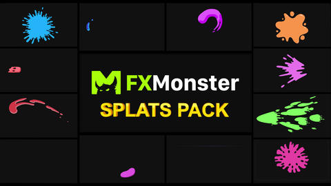 Splats Elements Motion Graphics Pack Animation