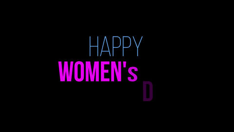 Happy Women's Day Animated Motion Graphics,March 8,Happy Mother's Day Live Action