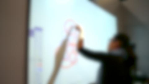 Blurred background. Drawing a finger or an object on a solid surface Live Action