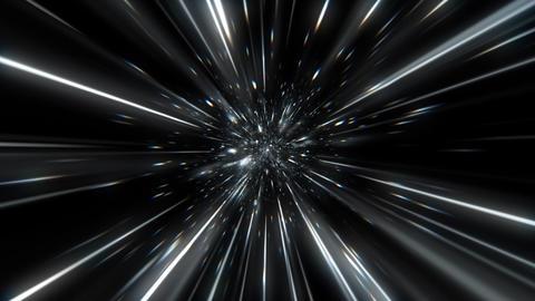 宇宙 トンネル スピード アブストラクト 光線 CG動画
