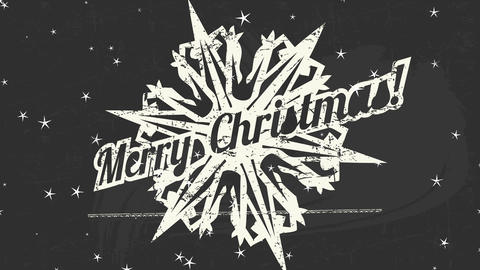 heavy metal style merry xmas reception postcard with white antique crystal graphical with spikes Animation