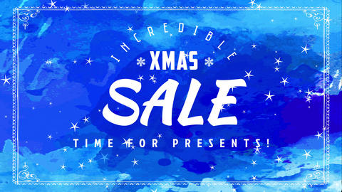 fabulous christmas transfer sign board with supporting its time for display slogan for shopping Animation