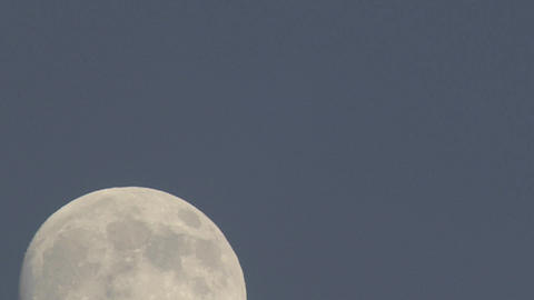 Close-up time lapse of a rising full moon above Oak View,... Stock Video Footage