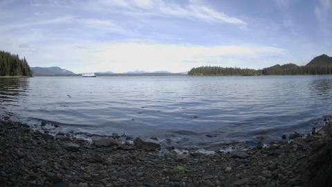 Time Lapse Of The Tide Rising In Pavlof Harbor Off Of Chichagof Island In Southeast, Alaska stock footage