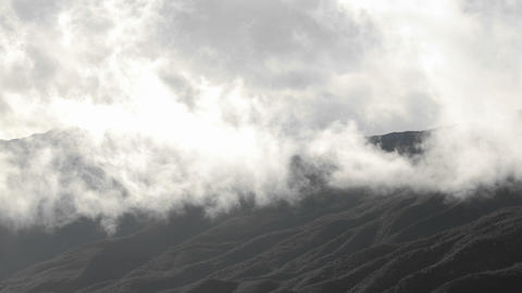 Time lapse of storm clouds clearing over the Santa Ynez... Stock Video Footage
