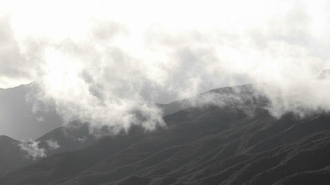 Time lapse of storm clouds clearing over the Santa Ynez Mountains above Ojai, California Footage
