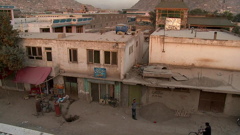 Tilt down of neighborhood of Karte Char in Kabul, Afghanistan Footage