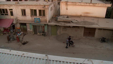 Tilt down of neighborhood of Karte Char in Kabul,... Stock Video Footage