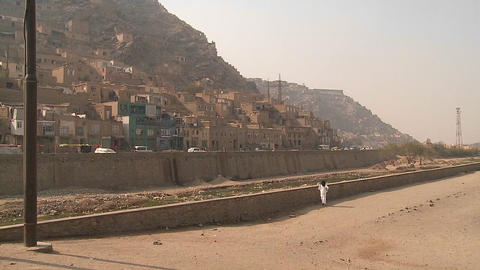 Hillside view of Kabul Afghanistan Stock Video Footage