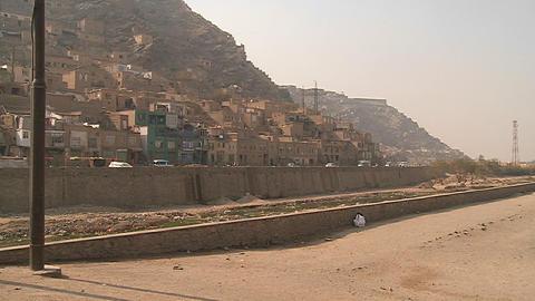 Hillside view of Kabul Afghanistan Stock Video Footage