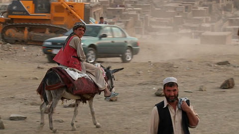 A wide shot of Kabul, Afghanistan from TV Hill Stock Video Footage