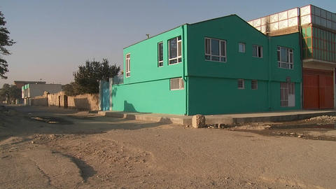 A lonely abandoned neighborhood in Kabul, Afghanistan... Stock Video Footage
