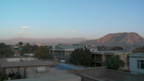 Slow pan of residential neighborhood in Kabul, Afghanistan Footage