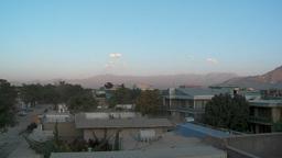 Slow pan of residential neighborhood in Kabul, Afghanistan Stock Video Footage