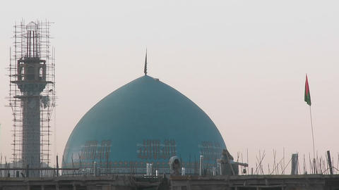 A mosque under construction in Kabul, Afghanistan Stock Video Footage